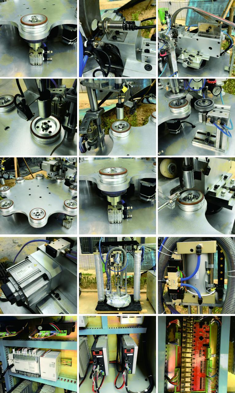 半自动百叶轮成型机组成部件